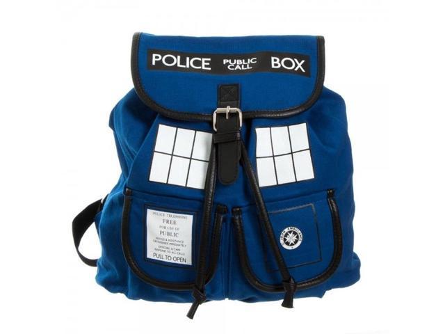 Backpack - Dr. Who - Blue Tardis Knapsack New Anime Licensed bp1ve6drw