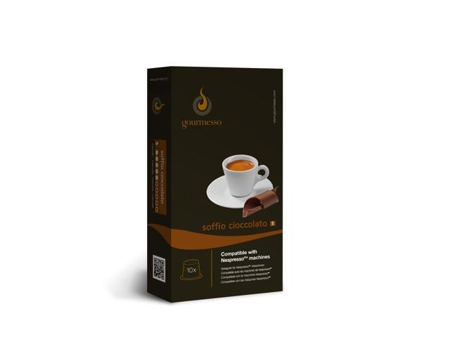 nespresso compatible coffee capsules 10 soffio cioccolato chocolate. Black Bedroom Furniture Sets. Home Design Ideas