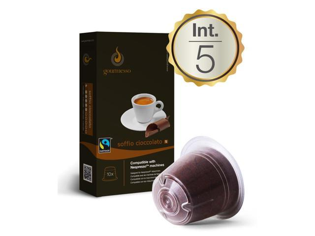 chocolate 10 nespresso compatible coffee capsules. Black Bedroom Furniture Sets. Home Design Ideas