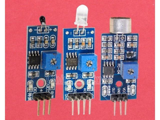 Photodiode thermistor sound detection sensor kit for