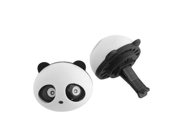2x Auto Dashboard Air Freshener blink Lovely Panda Perfume Diffuser for Car Black