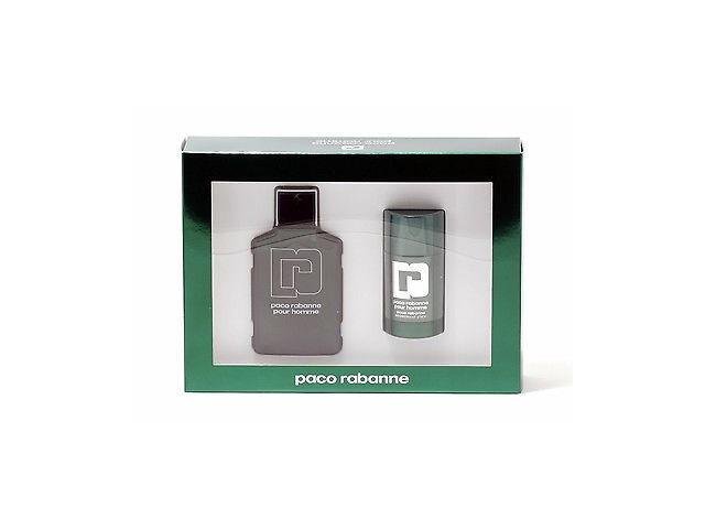 Genuine PACO RABANNE Pour Homme 2 Piece GIFT SET including 3.4 Oz Eau De Toilette (EDT) Spray & Deodorant