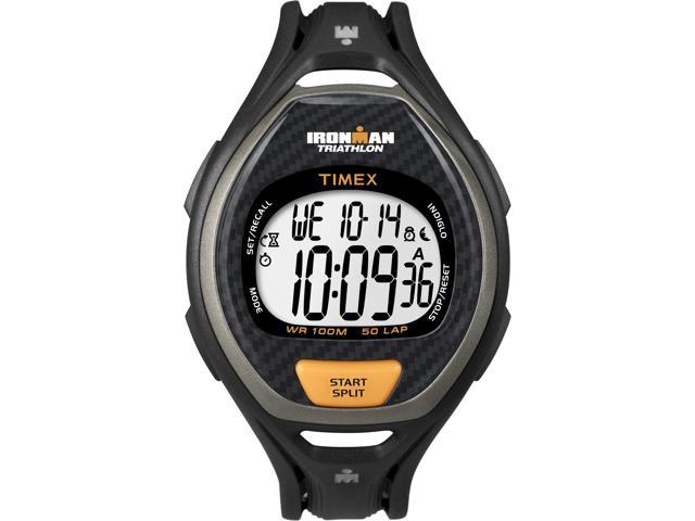 Digital Sport Watch |Men's Sleek Black Ironman 50-Lap Timer | Timex T5K332