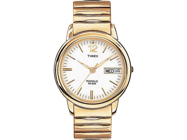 Timex Men's | Gold-Tone Band & Case Day/Date Calendar | Dress Watch T21942