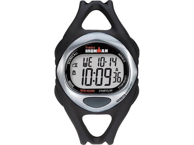 Timex Men's Ironman | Sleek 50-Lap Full Size Black Case & Strap | Digital T54281