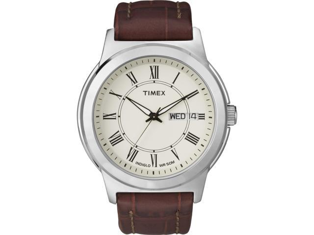 Timex Men's | Roman Numerals w White Dial | Elevated Classics Dress Watch T2E581