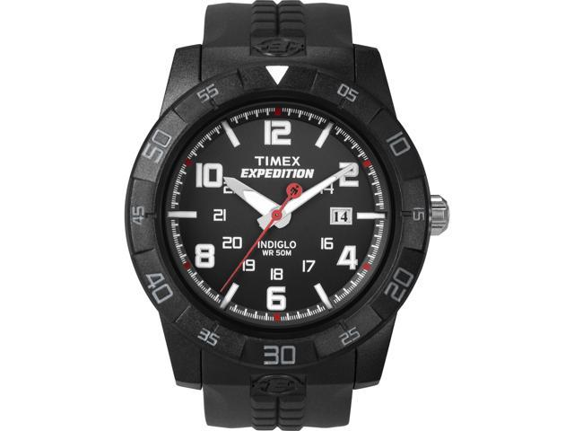 Timex Men's Expedition | Black Case Dial & Resin Band | Rugged Watch T49831
