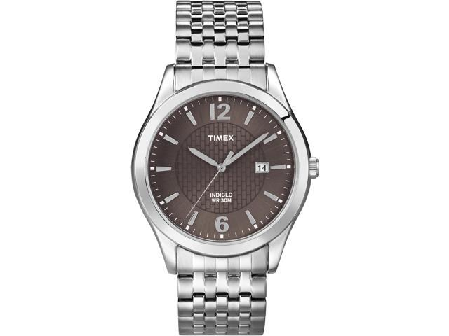 Timex Men's Classic | Silver-Tone Expansion Band Black Dial | Dress Watch T2N848