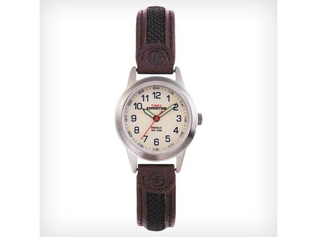 Timex Expedition Women's | Cream Dial Indiglo Leather Strap | Watch T41181