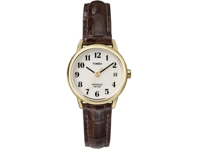Timex Women's | Gold-Tone Case & Brown Leather Strap | Easy Reader Watch T20071