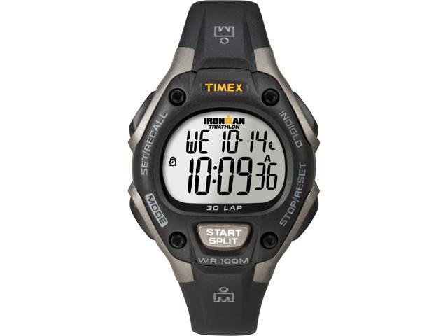 Timex Ironman   30-Lap Gray Case Black Strap 100m Water Resistant   Sport T5E961