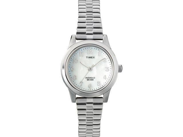 Timex Women's | Silver-Tone Case & Band Mother of Pearl Dial Dress Watch T2M826