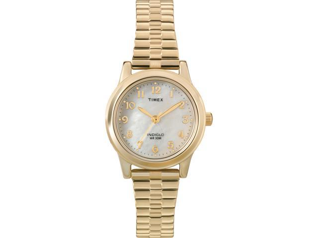 Timex Women's | Mother of Pearl Dial Gold-Tone Band | Elevated Classics T2M827