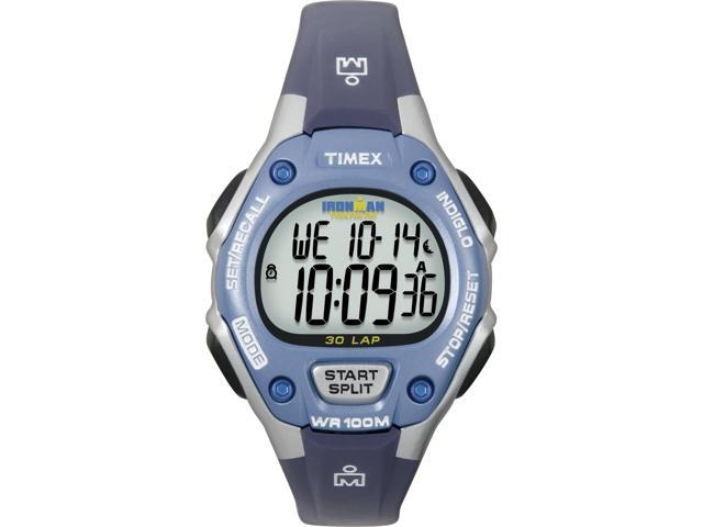 Timex Women's Ironman | Gray Case & Purple Bezel Digital 30-Lap Mid Size T5K018