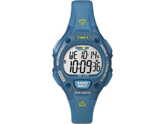 Timex Digital Women's Watch - Ironman 30-Lap Mid Size | Blue Case & Strap