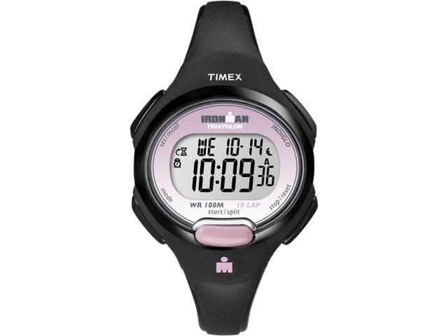 Timex Ironman Women's | Black Case & Strap Digital 10-Lap Mid Size Watch T5K522