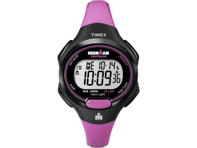 Timex Ironman Women's | Black Case & Pink Strap | Digital 10-Lap Mid Size T5K525