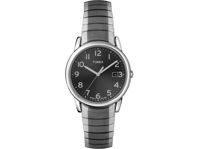 Timex Men's Elevated Classic | Gunmetal Case & Expansion Band Dress Watch T2N949