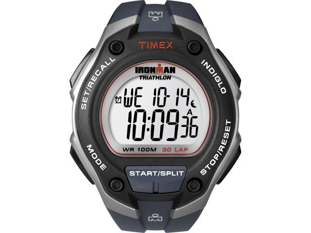 Timex Men's Ironman | 30-Lap Oversize Gray Case Blue Strap | Sport Watch T5K416