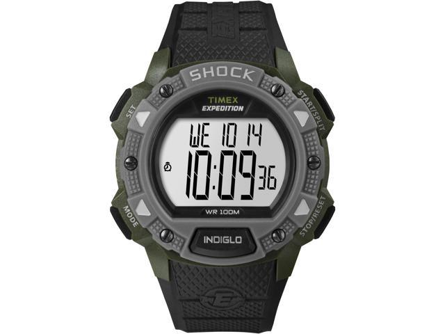 Timex Men's Expedition | Green Case & Gray Bezel Watch | Rugged Shock  T49897