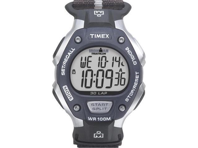 Timex Men's Ironman Classic   30-Lap Full Size Black/Gray Case & Strap   T5H421