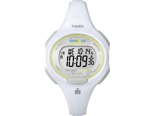 Timex Ironman Women's | White Case & Strap | Digital Traditional 10-Lap T5K606