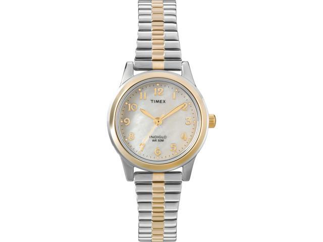 Timex Women's | Two-Tone Case w Mother of Pearl Dial | Elevated Classics T2M828