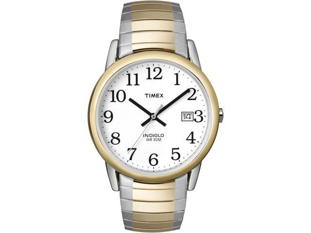 Timex Men's Easy Reader | Two-Tone Case Expansion Band Easy Reader Watch T2H311