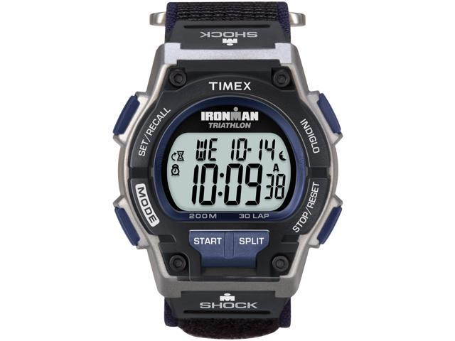 Men's Shock-Resistant Sport Watch | 30-Lap Timer Gray/Black Timex Endure T5K198