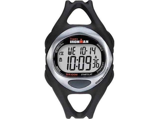 Men's 50-Lap Sport Watch | Resin Strap Chronograph Black | Timex Sleek T54281