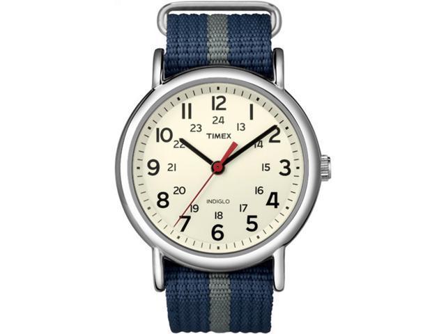 Timex T2N654 Weekender Slip-Thru Watch - Navy/Gray