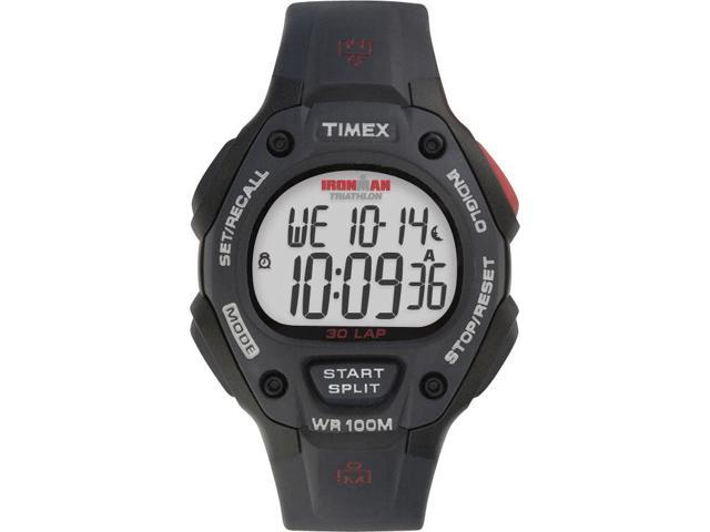 Timex Men's Ironman | Black Case & Band 30-Lap Full Size | Digital Watch T5H581