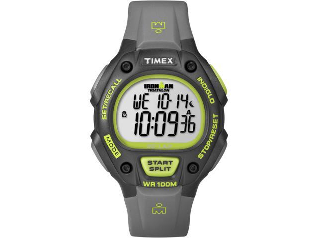 Timex Ironman Men's | Black Case & Green Accent | Digital 30-Lap Full Size Watch