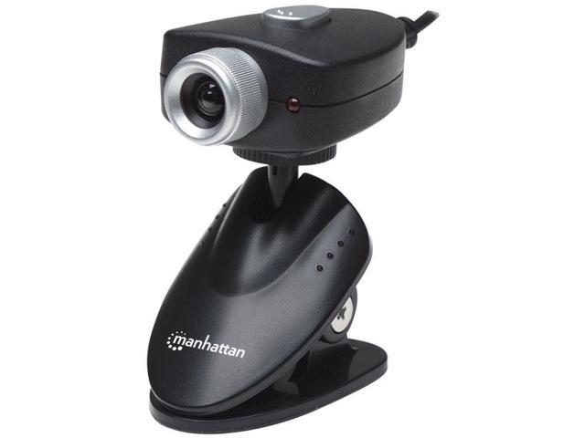 Manhattan Webcam 500 5 Megapixel Cmos Lens With Adjustable Clip Base, Usb, Black (460729)
