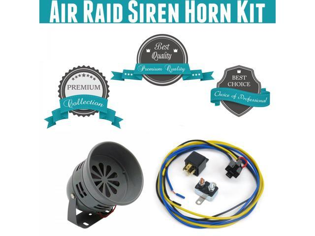 Trigger Horns Siren Horn Kit 1039269 1996 Chevrolet G30 Air Raid Siren Horn Kit w/ Relay, Harness & Breaker module