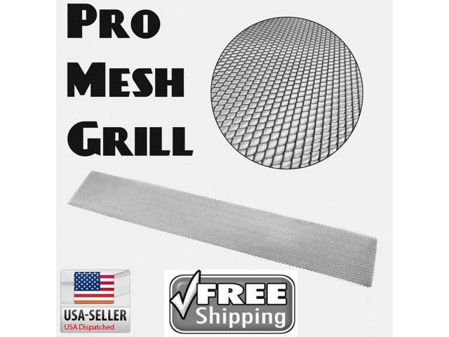 AutoLoc Power Accessories GRILL MESH BLACK 625065 2012 Honda Civic Pro Mesh Black Grill Insert fit 4ft perforated front style