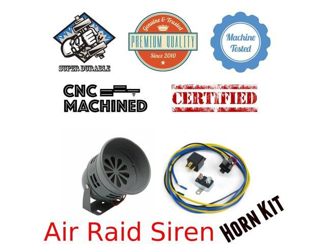 Trigger Horns Siren Horn Kit 1044768 1982 Chrysler Imperial Air Raid Siren Horn Kit w/ Relay, Harness & Breaker