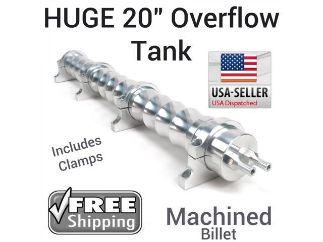 AutoLoc Power Accessories Overflow Tank 1027305 1993 International 4800 20 Inch Billet Radiator Overflow Tank back flow custom