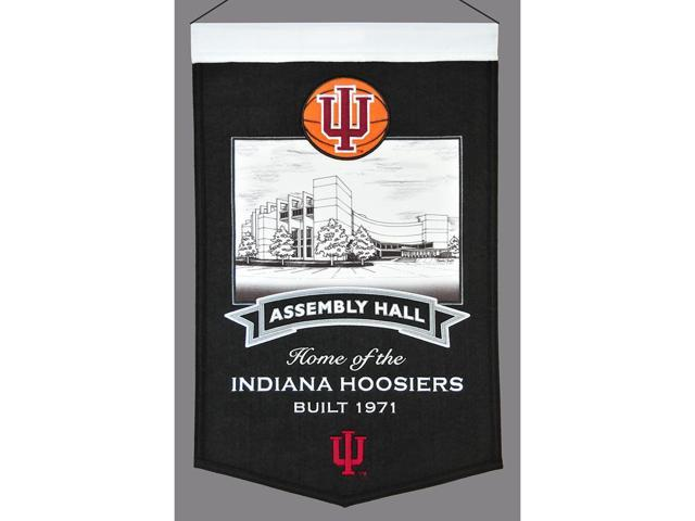 Indiana Hoosiers Official Wool Stadium Fan Banner by Winning Streak