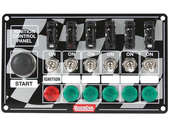 Quickcar Racing Products 50-164 Ignition Panel Fused W/Start Button & Lights