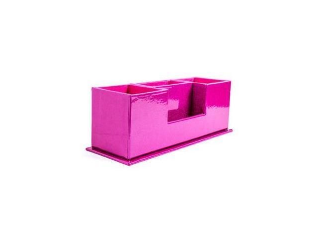 Hot pink glitter desk organizer - Pink desk organizer ...