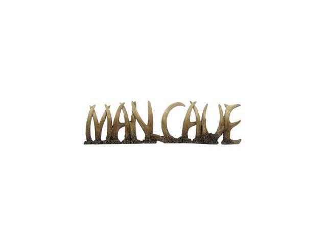 Man Cave Word Art : Man cave polyresin antler word newegg