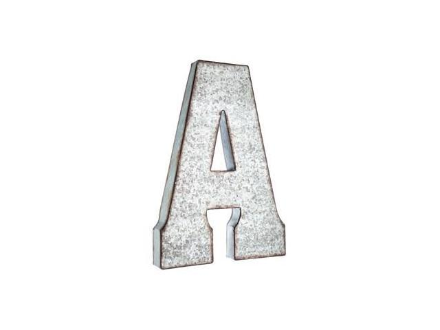 Large galvanized metal letter a neweggcom for Giant galvanized letters