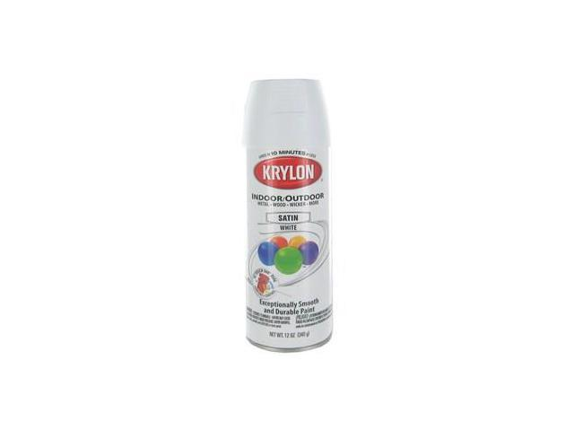 krylon white indoor outdoor satin spray paint. Black Bedroom Furniture Sets. Home Design Ideas