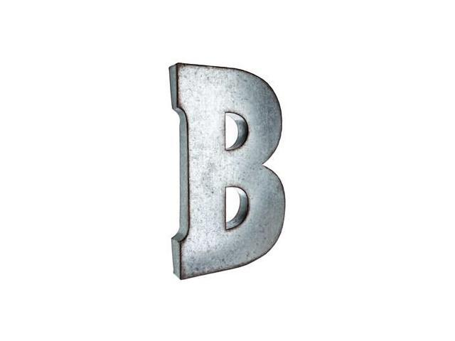 large galvanized metal letter b neweggcom With galvanized letter b
