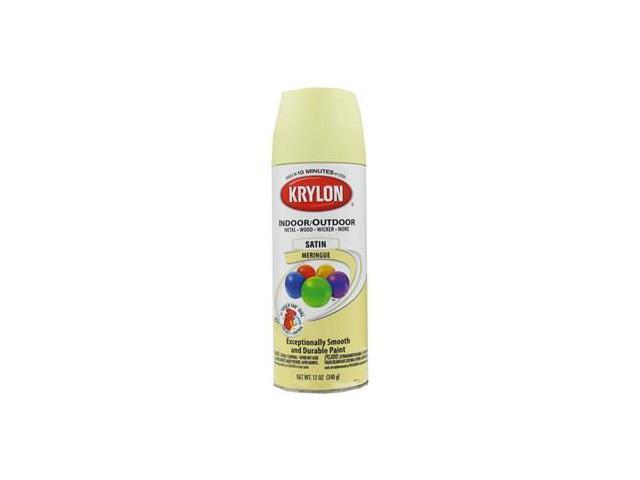 Krylon meringue indoor outdoor satin spray paint Outdoor spray paint