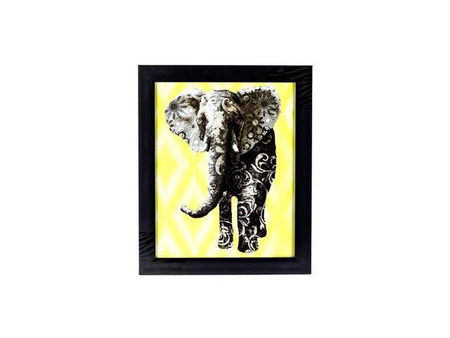 Multi patterned elephant framed wall art for Multi frame wall art