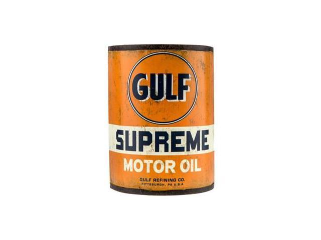 gulf motor oil metal half can from thecraftycrocodile