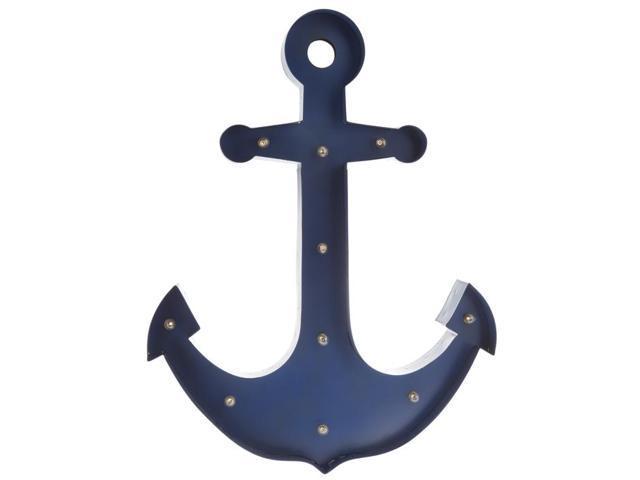 Blue Anchor Wall Decor : Blue anchor lighted wall decor newegg
