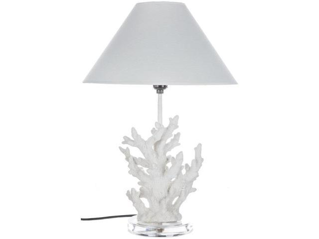 white coral table lamp with shade. Black Bedroom Furniture Sets. Home Design Ideas